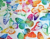 Butterfly Fabric Timeless Treasures Cotton Fabric Sewing Fabric Quilting Fabric Butterflies Material Fabric by the Yard