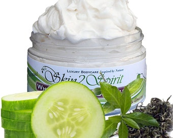 CUCUMBER & MINT Shea Body Butter / Mousse - Truly All Natural - No Synthetic Fragrances - No Toxins - Real Chocolate