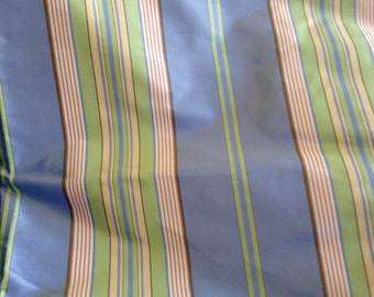 Over 2 yds of Silk Stripe Fabric