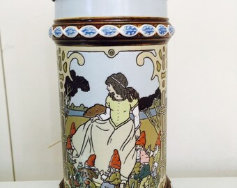 Tales of the Brothers Grimm Stein Handpainted Limited Edition