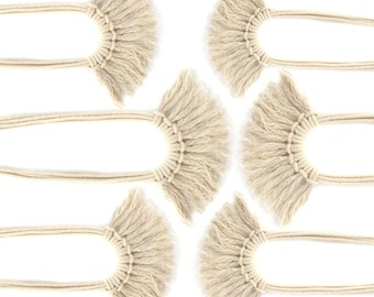 Saguaro Fringe Necklace in Ecru