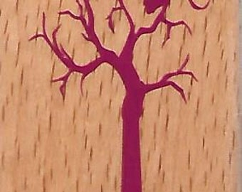 Owl in Tree Halloween Stamp --   NEW  -- Wood Mounted Rubber Stamp --  Studio G Brand --   (#1524)
