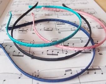 20pcs Ribbon Wrapped Headband - Black Blue Pink Green Hair Bands Hair Accessories