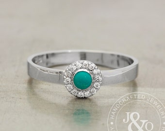 turquoise diamond ring vintage style in white gold turquoise engagement ring - Turquoise Wedding Rings