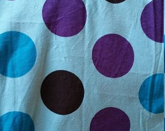 Cotton jersey with big dots