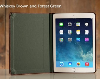 DISCONTINUED (SALE) Walden Collection for iPad Air 2 - Whiskey/Forest Green