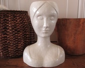 Vintage Bust Vase Woman Head Planter Made in Italy