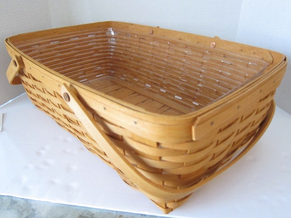 Gathering Basket Making Materials : Vintage longaberger gathering basket large fruit vegetable