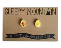 Avocado Earrings - Sleepy Mountain Studs