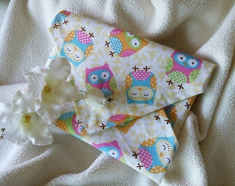 """Snack and Sandwich WRAP, Reusable, Placemat """"Owls Everywhere!"""""""