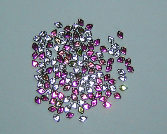 5g Dragon Scale Beads CRYSTAL VITRAIL 1.5x5mm by GrandmasCupboardS