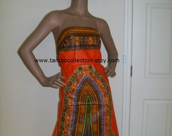 Orange with purple color dashiki print fabric wholesale 6 yards/ Dashiki clothing/ Accessories/ Dashiki Bags/ Kitenge fabric/ Java print