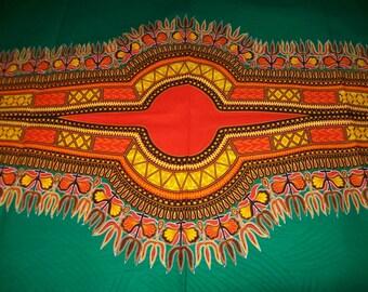 Green color dashiki fabric wholesale 6 yards/ Dashiki clothing/ Accessories/ Dashiki Bags/ Kitenge fabric/ Java print/ Angelina Dashiki