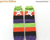 ON SALE Leg Warmers - Halloween Stripe