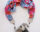 scarf camera strap watercolor poppy - BCSCS067