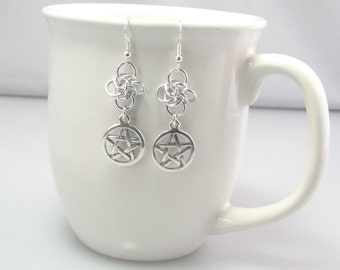 Persephone's Charm Chainmaille Earrings