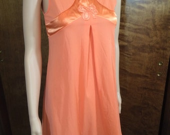 Vintage Gossard Artemis Petite Orange Sleepwear Nightgown