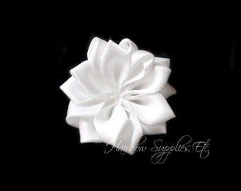 White Dainty Star Flowers 1-1/2 inch- White Fabric Flower, White Silk Flowers, White Hair Flowers, White Flower, White Flowers for Headbands