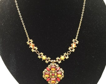 VERY VINTAGE NECKLACE -Very Cool - Wonderful Design and Colors