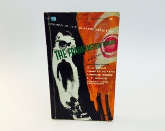 Vintage Horror Book The Frankenstein Reader 1962 Paperback Anthology