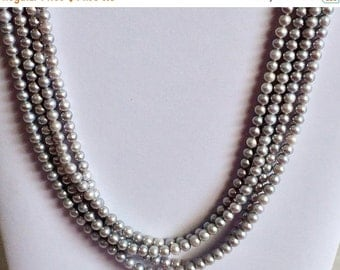 55% ON SALE Pearls - Grey Pearls, Natural Fresh Water Round Pearls, Natural Pearls, Pearl Necklace, 6mm, 8 Inch Strand, 26 Pieces, Wholesale