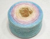 Gradient yarn silk yarn mulberry silk yarn laceweight yarn handdyed yarn 100g (3.5oz) - Tropical dawn