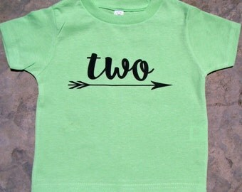 Two Birthday shirt, 2nd Birthday tee, Toddler Boy or girl Birthday, Third Birthday shirt, Happy Second Birthday tee
