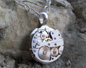 Steampunk Watch Movement Necklace Pendant A 22