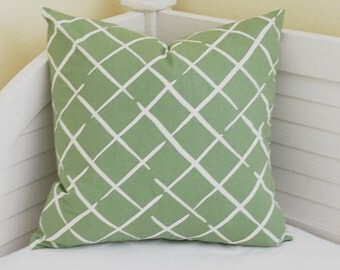 Robert Allen Madcap Cottage Cove End in Palm Designer Pillow Cover - Square, Euro, Lumbar and Body Pillow Sizes