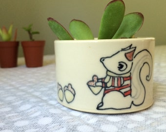 Squirrel Succulent Planter or Small Dish - No Plant Included