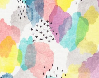 Boho fabric, Organic Fabric, Quilting Cotton, Apparel fabric, Floral fabric, Rainbow Fabric, Canvas print cotton,nursery fabric, Cloud9