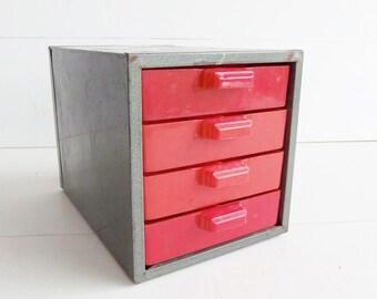 Vintage Dunlap Metal Parts Drawers . Metal Storage Drawers