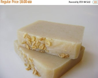 Unscented Soap with Organic Oats, Handmade Cold Process Soap, All Natural Soap, Sensitive Skin Soap bar soap