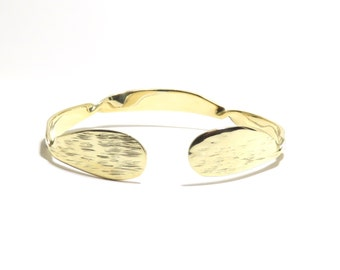 Brass Bracelet, Cuff, Women, Men, Ready To Ship, Metalwork, Bangle BLB 41