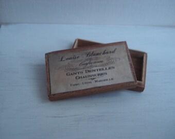 Miniature wooden vintage box