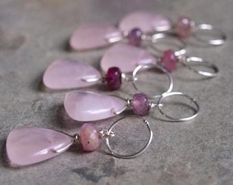 Rose Quartz and Pink Tourmaline Charm #4