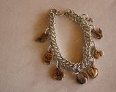 TATTOO themed charm bracelets GOLD or SILVER