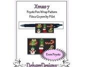 Bead Pattern Peyote(Pen Wrap/Cover)-Xmas 7
