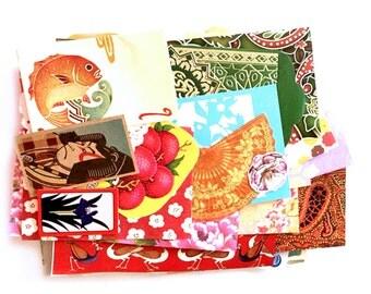 Asian scrap pack paper ephemera, paper scraps pack 2
