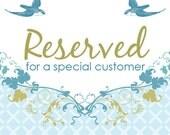 Reserved Listing For MYRA