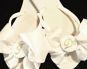 i do wedding flip flopswedgesbride ido sandals wedding shoeswhite