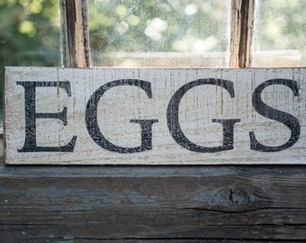 Small farmhouse Eggs kitchen sign, farmhouse decor, rustic cottage kitchen sign, tiny farmhouse decor, fresh eggs sign neutral decor