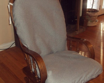 Glider Rocker Slip Cover FOR YOUR Glider Cushions -  Gray  Slipcover or Any Color you choose.