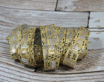 "Silver I Solemnly Swear I am Up to No Good Grosgrain Ribbon 7/8"" You choose the color"