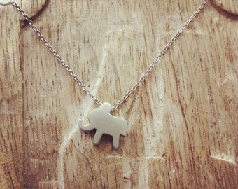 Silver Elephant Necklace (16 Inch)