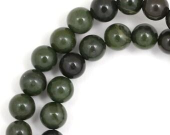 African Green Jasper Beads - 6mm Round