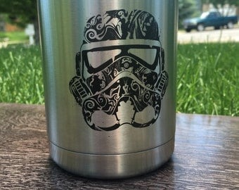 Yeti Stormtrooper Lowball Custom Laser Engraved Stormtrooper and Name
