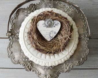 Vintage Silver Brides Wedding Basket