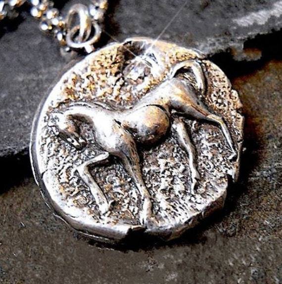 Handmade Silver Horse Equestrian Necklace, Gift for Tween. Teenager Gift .  Horse Lover . Horseback Rider . Equestrian Jewellery