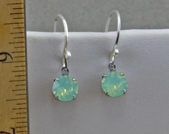 Handmade  Crystal and Silver Dangle Earrings